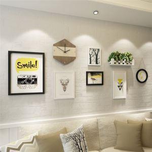 壁掛けフォトフレーム 写真立てセット 額縁 フォトデコレーション 木製 6個セット