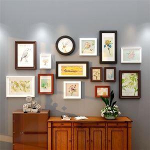 壁掛けフォトフレーム 写真立てセット 額縁 フォトデコレーション 木製 14個セット