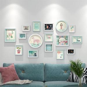 壁掛けフォトフレーム 写真立てセット 額縁 フォトデコレーション 木製 16個セット