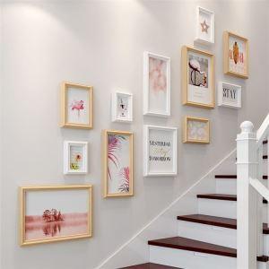 壁掛けフォトフレーム 写真立てセット 額縁 フォトデコレーション 木製 12個セット