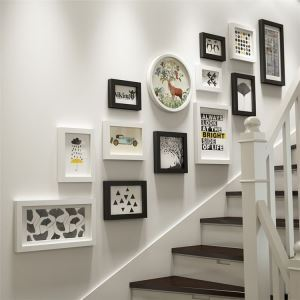 壁掛けフォトフレーム 写真立てセット 額縁 フォトデコレーション 木製 13個セット