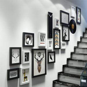壁掛けフォトフレーム 写真立てセット 額縁 フォトデコレーション 木製 18個セット