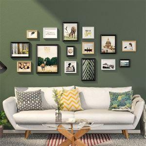 壁掛けフォトフレーム 写真立てセット 額縁 フォトデコレーション 木製 15個セット