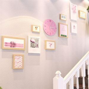 壁掛けフォトフレーム 写真立てセット 額縁 フォトデコレーション 木製 10個セット