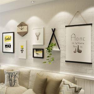 壁掛けフォトフレーム 写真立てセット 額縁 フォトデコレーション 木製 4個セット