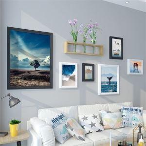 壁掛けフォトフレーム 写真立てセット 額縁 フォトデコレーション 木製 6個セット 北欧風