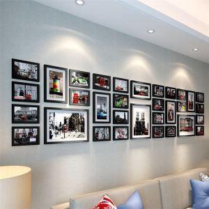 壁掛けフォトフレーム 写真立てセット 額縁 フォトデコレーション 木製 32個セット 北欧風