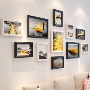 壁掛けフォトフレーム 写真立てセット 額縁 フォトデコレーション 木製 11個セット 北欧風