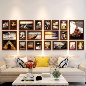 壁掛けフォトフレーム 写真立てセット 額縁 フォトデコレーション 木製 20個セット 北欧風