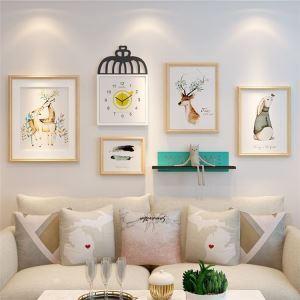 壁掛けフォトフレーム 写真立てセット 額縁 フォトデコレーション 木製 5個セット 北欧風