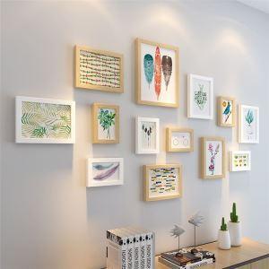 壁掛けフォトフレーム 写真立てセット 額縁 フォトデコレーション 木製 13個セット 北欧風