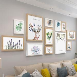 壁掛けフォトフレーム 写真立てセット 額縁 フォトデコレーション 木製 12個セット 北欧風