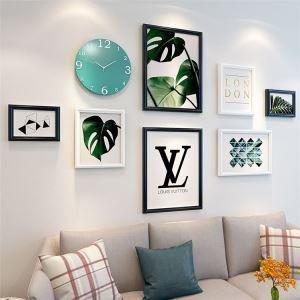 壁掛けフォトフレーム 写真立てセット 額縁 フォトデコレーション 木製 8個セット 北欧風