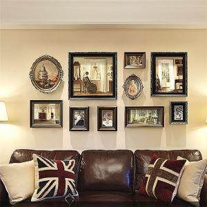 壁掛けフォトフレーム 写真立てセット 額縁 フォトデコレーション 木製 10個セット レトロ