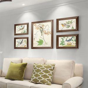 壁掛けフォトフレーム 写真立てセット 額縁 フォトデコレーション 木製 5個/6個セット