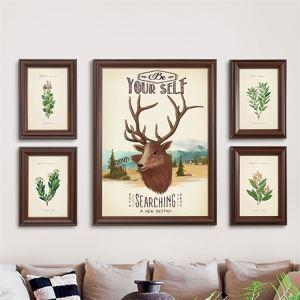 壁掛けフォトフレーム 写真立てセット 額縁 フォトデコレーション 木製 5個セット