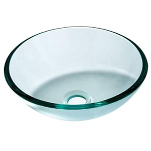 洗面ボウル 洗面器 手洗器 手洗い鉢 洗面台 洗面ボール 排水金具付 透明&浅緑色