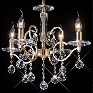 シャンデリア リビング照明 照明器具 店舗照明 寝室照明 クリスタル オシャレ 4灯 LED電球対応