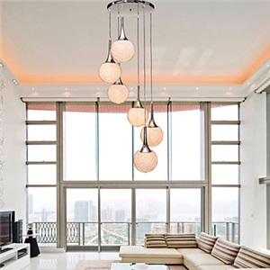 ペンダントライト 天井照明 照明器具 リビング照明 吹き抜け照明 オシャレ 6灯