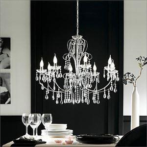 シャンデリア リビング照明 照明器具 店舗 寝室 クリスタル オシャレ 8灯 LED電球対応