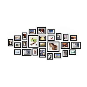 壁掛けフォトフレーム 写真用額縁 フォトデコレーション PM26AB 26個セット 複数枚