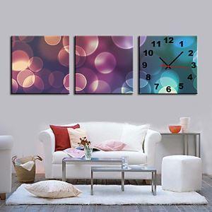 壁掛け時計 壁絵画時計 静音時計 壁飾りオシャレ 3枚パネル K184