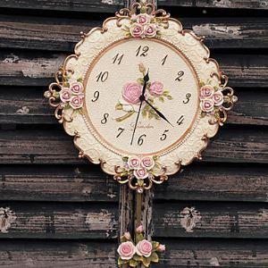 時計 壁掛け時計 インテリア バラ特集 ポリレジン