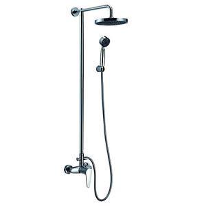 浴室シャワー水栓 レインシャワーシステム シャワーバー バス水栓 ヘッドシャワー+ハンドシャワー 混合栓 クロム