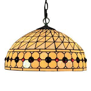 ティファニーライト ペンダントライト ステンドグラスランプ 照明器具 欧米風 天井照明 2灯