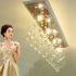 シーリングライト クリスタル照明 照明器具 リビング照明 寝室照明 姫系 おしゃれ 4灯