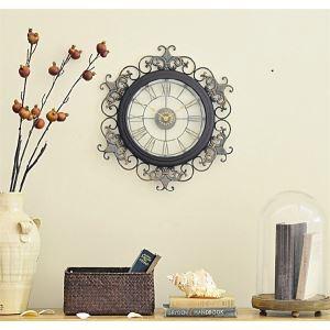 壁掛け時計 静音時計 壁時計 アンティーク調 メタル製