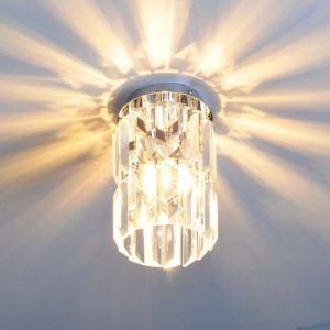 シーリングライト 天井照明 照明器具 玄関照明 クリスタル付 オシャレ照明 1灯