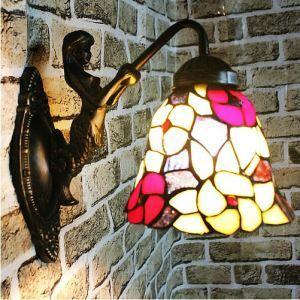 壁掛け照明 ステンドグラスランプ ブラケット 天使守護 玄関 6in 1灯