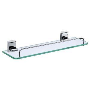 化粧棚 シェルフ ガラス棚 浴室棚 バスアクセサリー 浴室収納 真鍮 クロム