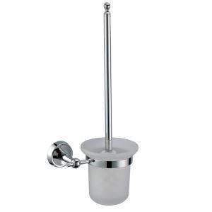 トイレブラシホルダー トイレ用品 トイレブラシ&ポット付き 真鍮製 オシャレ クロム