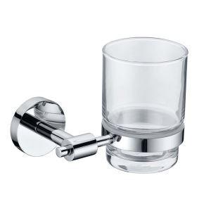 歯ブラシホルダー 歯ブラシスタンド カップ付き 収納 真鍮製 クロム