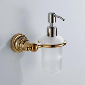 浴室ソープディスペンサーホルダーホルダー 真鍮 金色 Ti-PVD