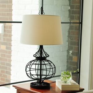 テーブルランプ スタンドライト 間接照明 卓上照明 田舎風 布製シェード