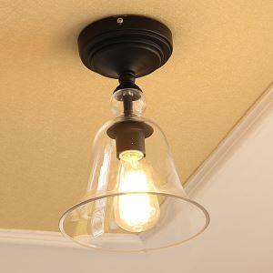 シーリングライト 照明器具 玄関照明 天井照明 田舎風 ガラス