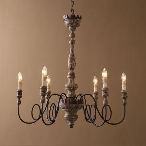 レトロなシャンデリア 照明器具 リビング照明 店舗照明 インテリア照明 北欧 アンティーク 6灯