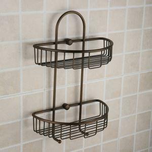 シャンプースタンド シャワーラック 浴室収納 真鍮製 2段