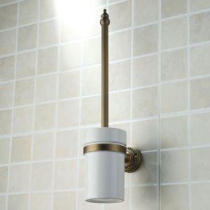 トイレブラシホルダー トイレ用品 トイレブラシ&ポット付き 真鍮 メッキ加工