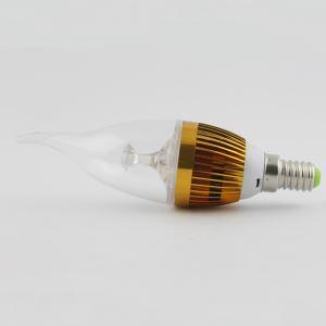 LEDシャンデリア電球 電球色・昼光色 270LM 3W E12 AC85-265V 金色 キャンドル型