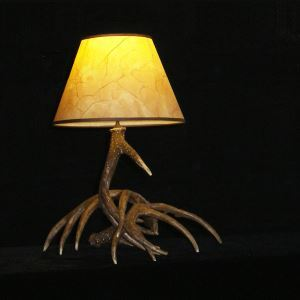 テーブルランプ スタンドライト 鹿角照明 間接照明 卓上照明 樹脂製 インテリア 茶褐色 1灯 LED対応 LW3L1N1