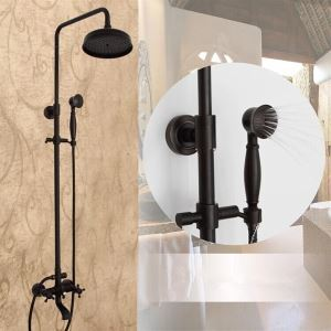浴室シャワー水栓 レインシャワーシステム シャワーバー バス水栓 ヘッドシャワー+ハンドシャワー+蛇口 ORB