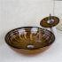 洗面ボウル&蛇口セット 手洗い鉢 洗面器 手洗器 洗面ボール 洗面台 ガラス 排水金具付 オシャレ VT4236