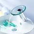 センサー水栓 自動水栓 洗面蛇口 単水栓 ガラス製滝状吐水口