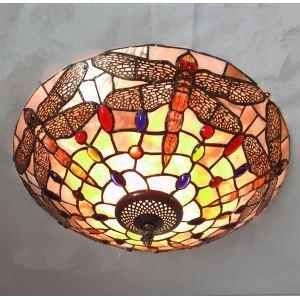 シーリングライト ステンドグラスランプ ティファニーライト 天井照明 トンボ 3灯
