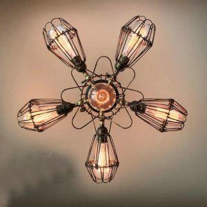 シーリングライト 照明器具 天井照明 リビング照明 田舎風 6灯