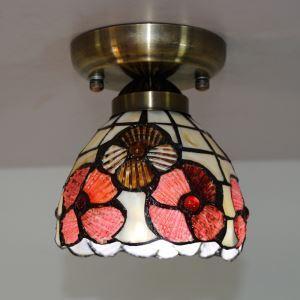 シーリングライト ステンドグラスランプ ティファニーライト 天井照明 玄関照明 1灯